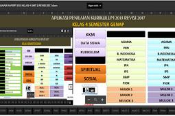 Download aplikasi Raport KK 13 SD Revisi 2017 Kelas 4 Semester 2