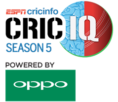 ESPNcricinfo in association with OPPO presents CricIQ 2017 Season 5