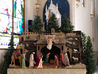 nativity scene at Windthorst Church