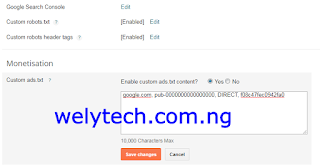 How to Setup Ads.txt File from Blogger Dashboard