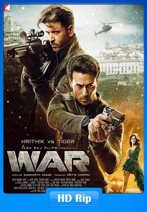 War 2019 Hindi 720p HDRip ESubs x264 | 480p 300MB | 100MB HEVC