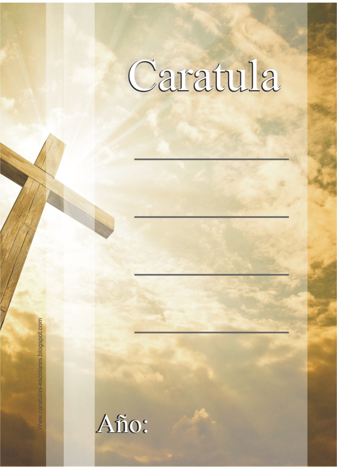 CARATULAS ESCOLARES Cruz Cristiana para Curso de Religion