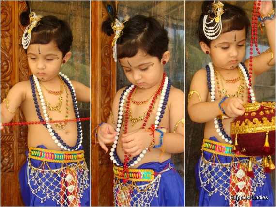 indian kids Lord Krishna dressup