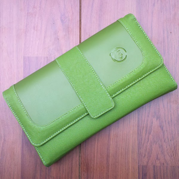 dompet hp organizer hijau