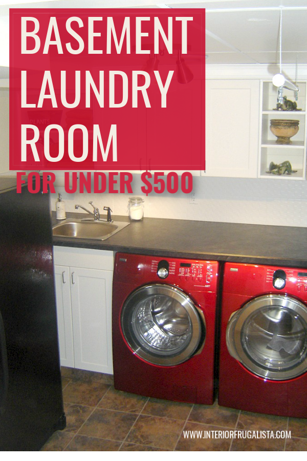 $500 Basement Laundry Room Makeover