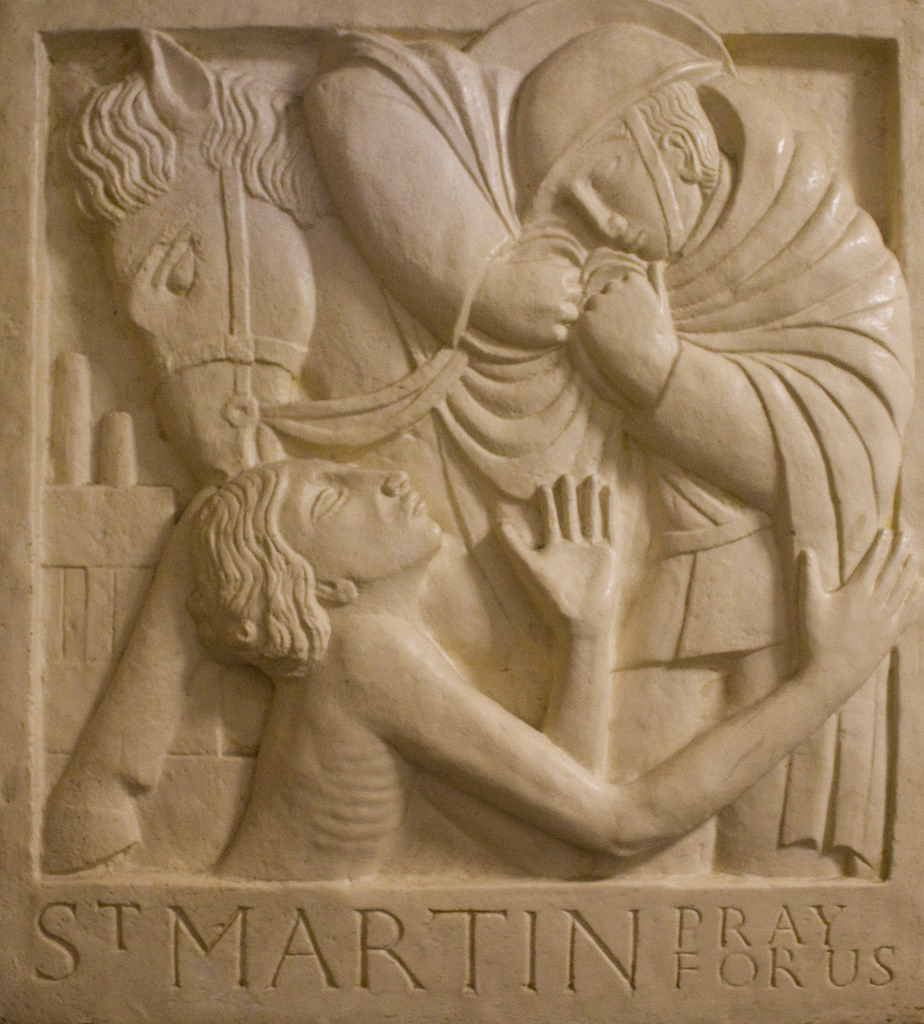 St. Martin of Tours and the beggar, by Eric Gill