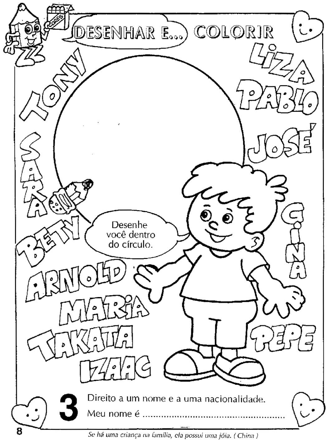 12 de outubro dia das crianças hora de colorir atividades