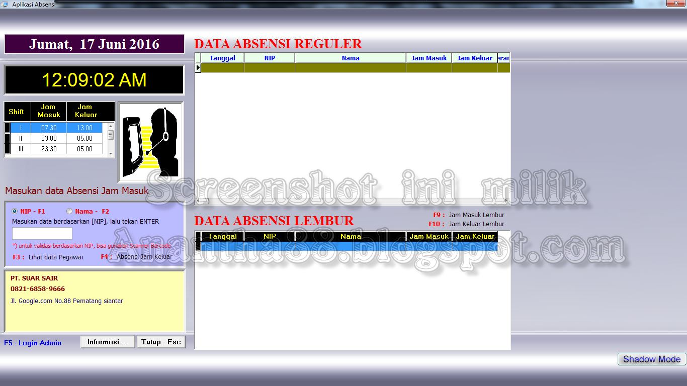 software absensi karyawan full crack gratis