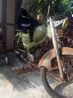 Dijual moped mobilette mesin pake zundapp 50cc