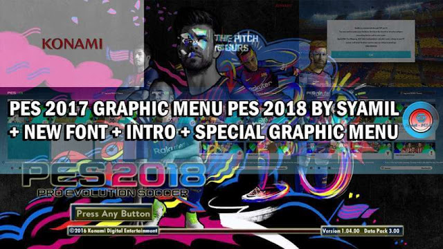 PES 2018 Graphic Menu For PES 2017