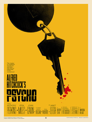 Alfred Hitchcock's Psycho Movie Poster Variant Screen Print by Phantom City Creative x Mondo