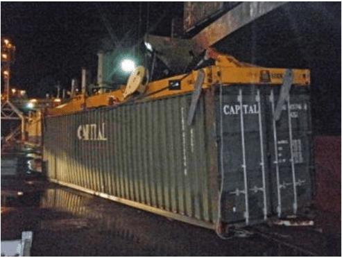 Yanlış konteyner ağırlık bildirimi nedeniyle yaşanan konteyner kazası