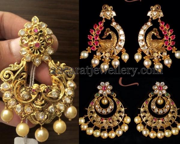 Rich Peacock Nakshi Chandbalis Jewellery Designs