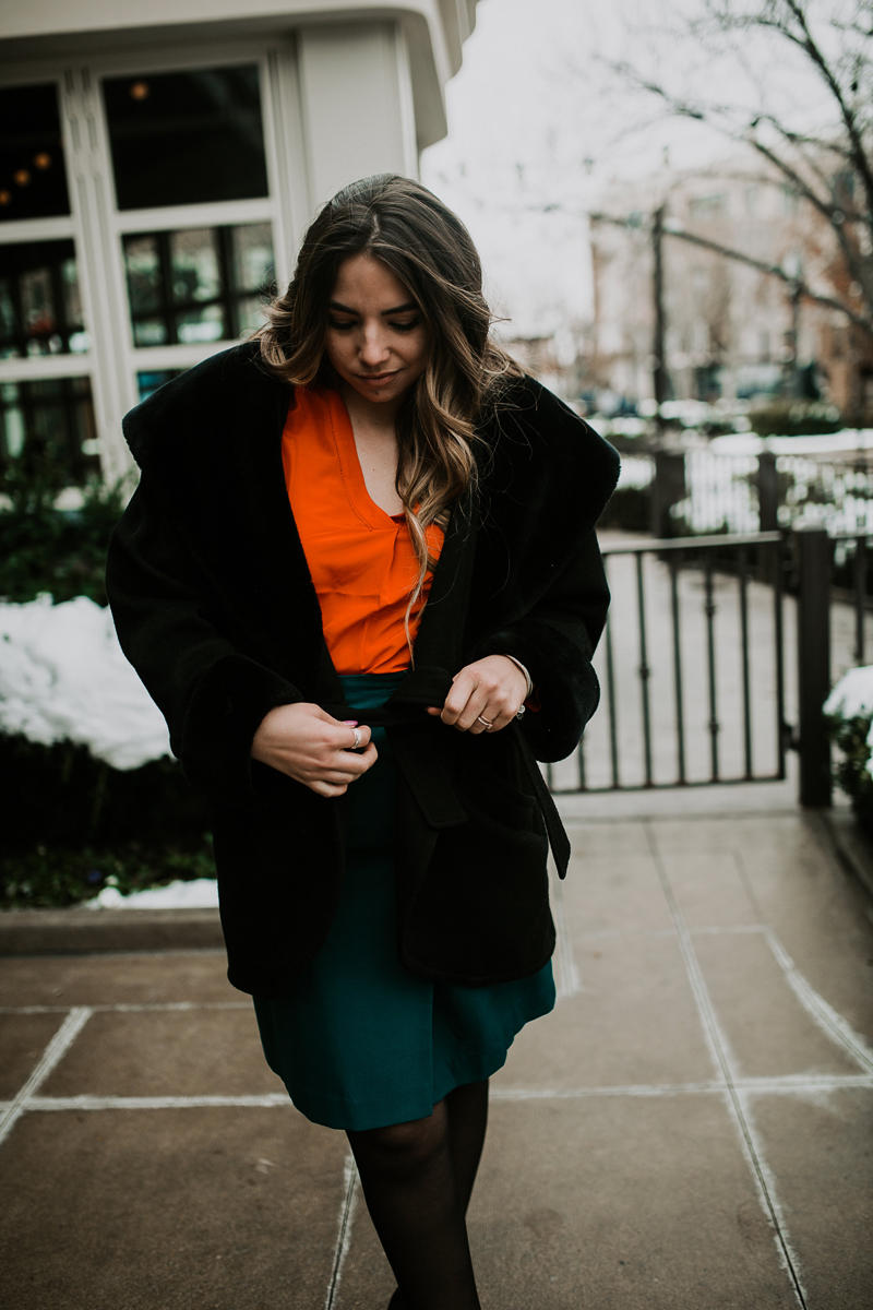 winter coat, thrifting, thrifted clothing