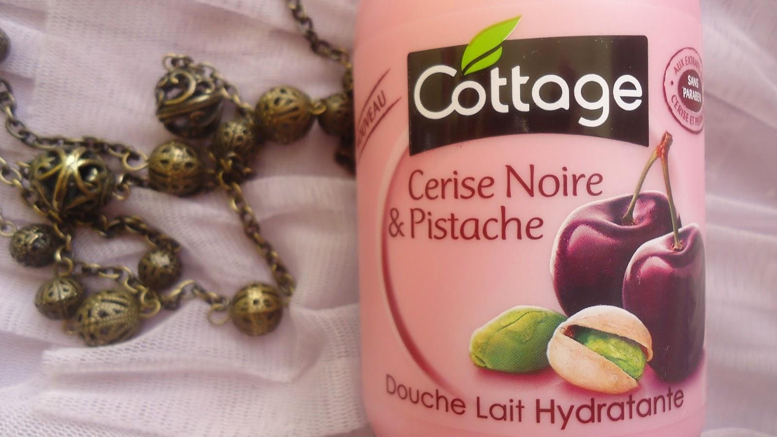 cottage gel douche cerise noire et pistache