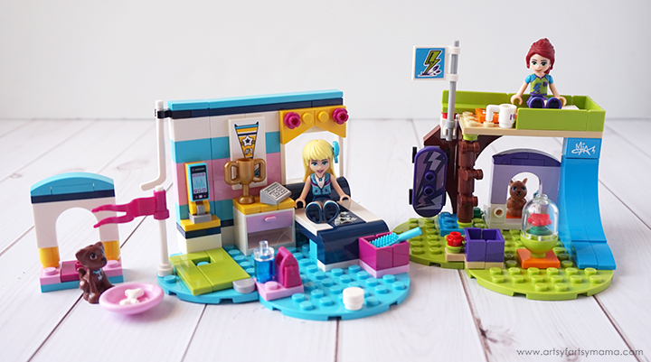 LEGO Friends Stephanie and Mia's Bedroom Sets