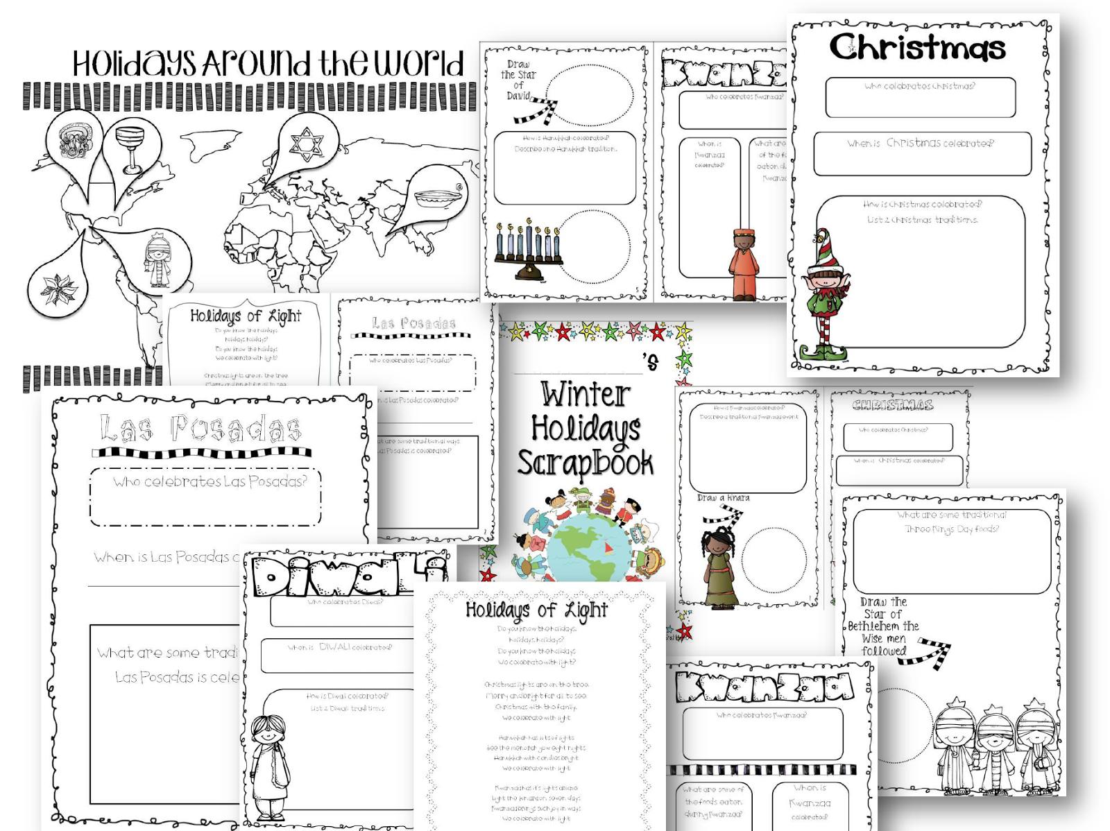 Workbooks las posadas worksheets : Blog Hoppin': November 2013