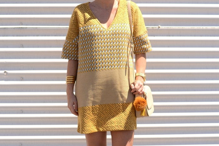 zara-yellow-mini-dress