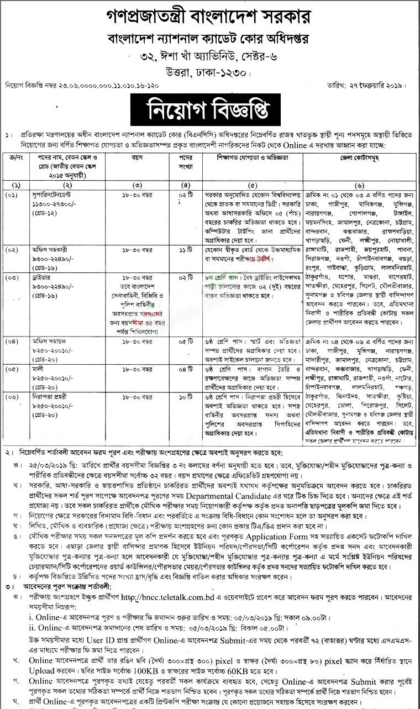 BNCC Job Circular 2019