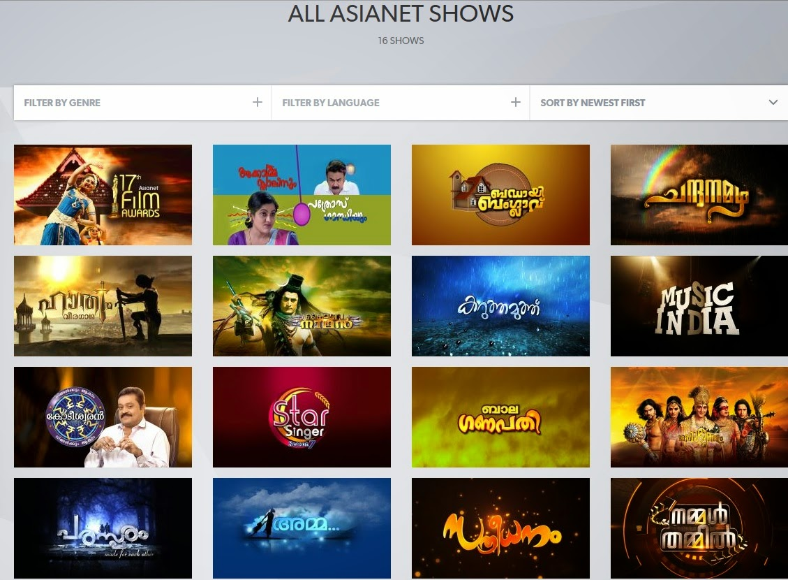 asianet serial list on hotstar
