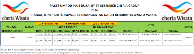 PAKET UMROH PLUS DUBAI BY EY DESEMBER 2016 CHERIAP GROUP