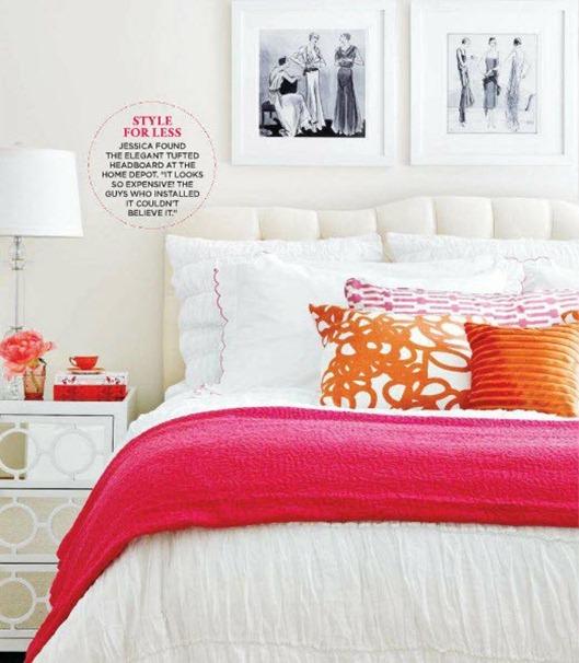 turuncu-pembe dekorasyon