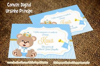convite ursinho príncipe