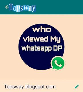 Who visited my whatsapp photo