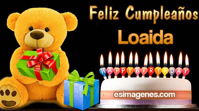 Feliz Cumpleaños Loaida