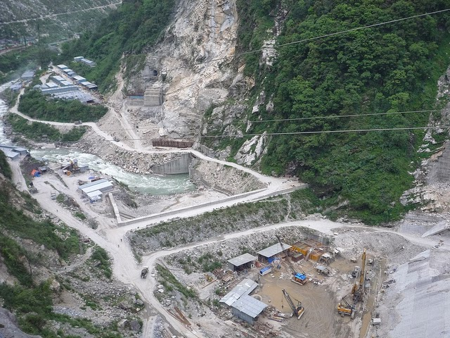 Construction on the Teesta III Dam