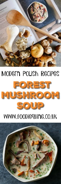 www.foodiequine.co.uk Forest Mushroom Soup from the debut cookbook 'Wild Honey and Rye' by Ren Behan. In this book we are invited to discover the very best of the new food of Poland with lighter healthier versions of traditional dishes and fresh seasonal fare served in contemporary ways.