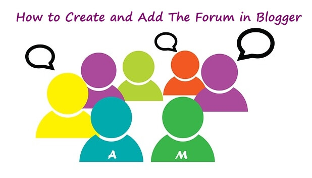 how to free forum to blogger