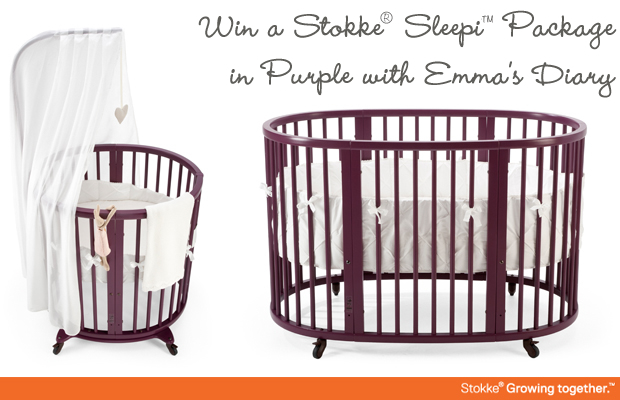 mma's Diary: WIN a Stokke, Sleepi, package in purple (worth over 650) with Emma's Diary