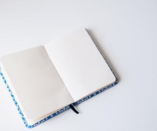 a blank open book