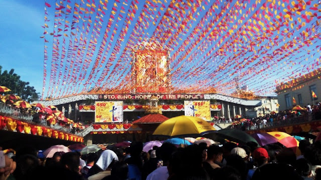 Basilica Del Sto Nino Pilgrim Center during Sinulog Festival. The Pilgrim Center of Basilica del Sto Nino is full-packed during the Sinulog Festival starting off from the first day of Novena Masses until the Sinulog Festival.