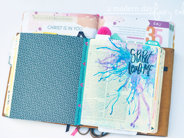 Bible Journaling Spotlight: Blow Painting with Straws