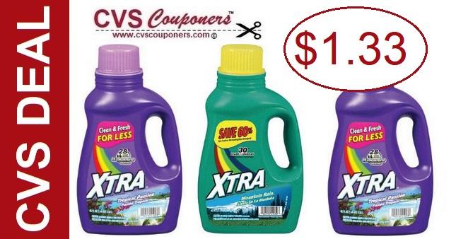 Xtra Laundry Detergent CVS Deal - 4/14-4/20