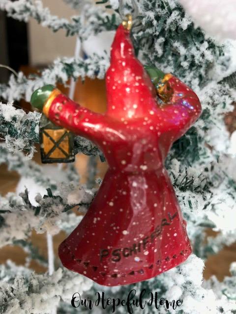 P. Schifferl signed Santa ornament