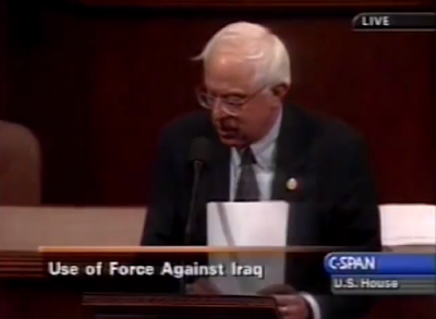 Bernie Sanders C-Span United States House of Representatives Iraq War resolution invasion vote