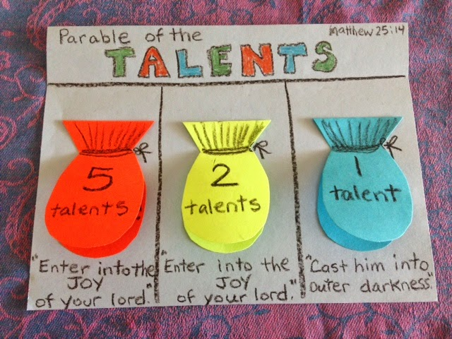 Sunday School Craft Parable Talents