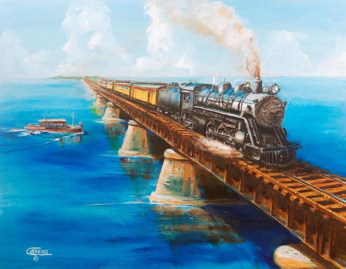 Железнодорожные картины. Christopher Jenkins 11