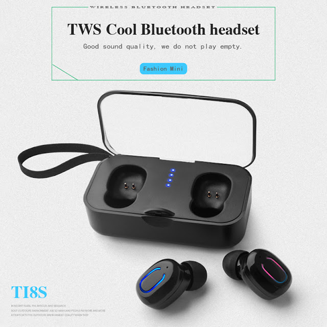 True Wireless] Bluetooth V5.0 TWS Earbuds Invisible Mini Stereo Binaural Call IPX5 Sweat-proof Sports Earphone Headset With Charging Box for IOS Android