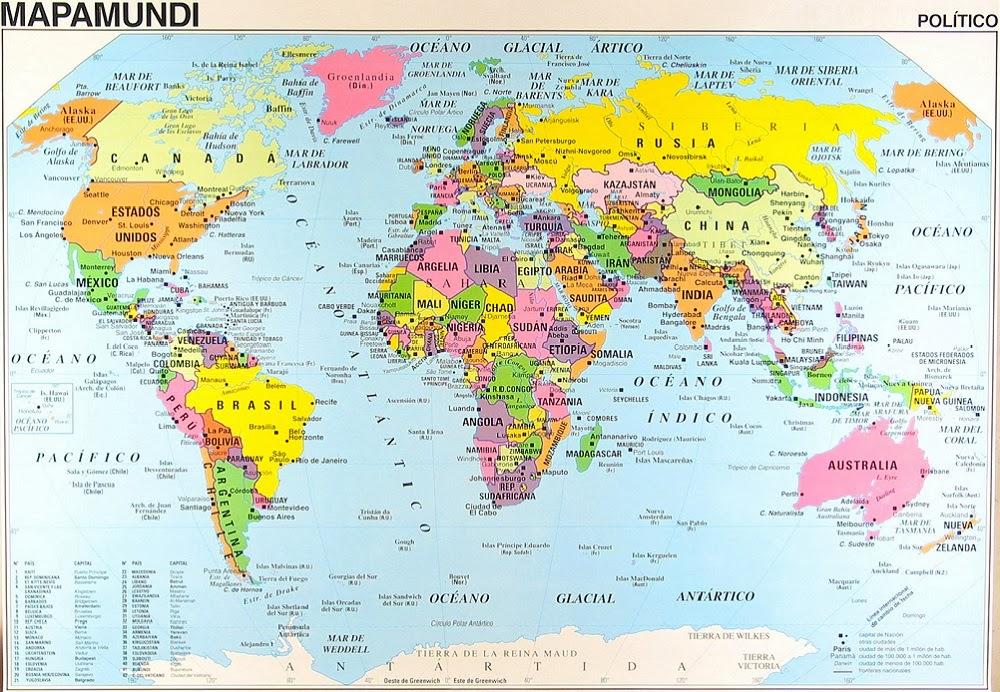 Mapamundi 100 mapas del mundo para imprimir y descargar gratis
