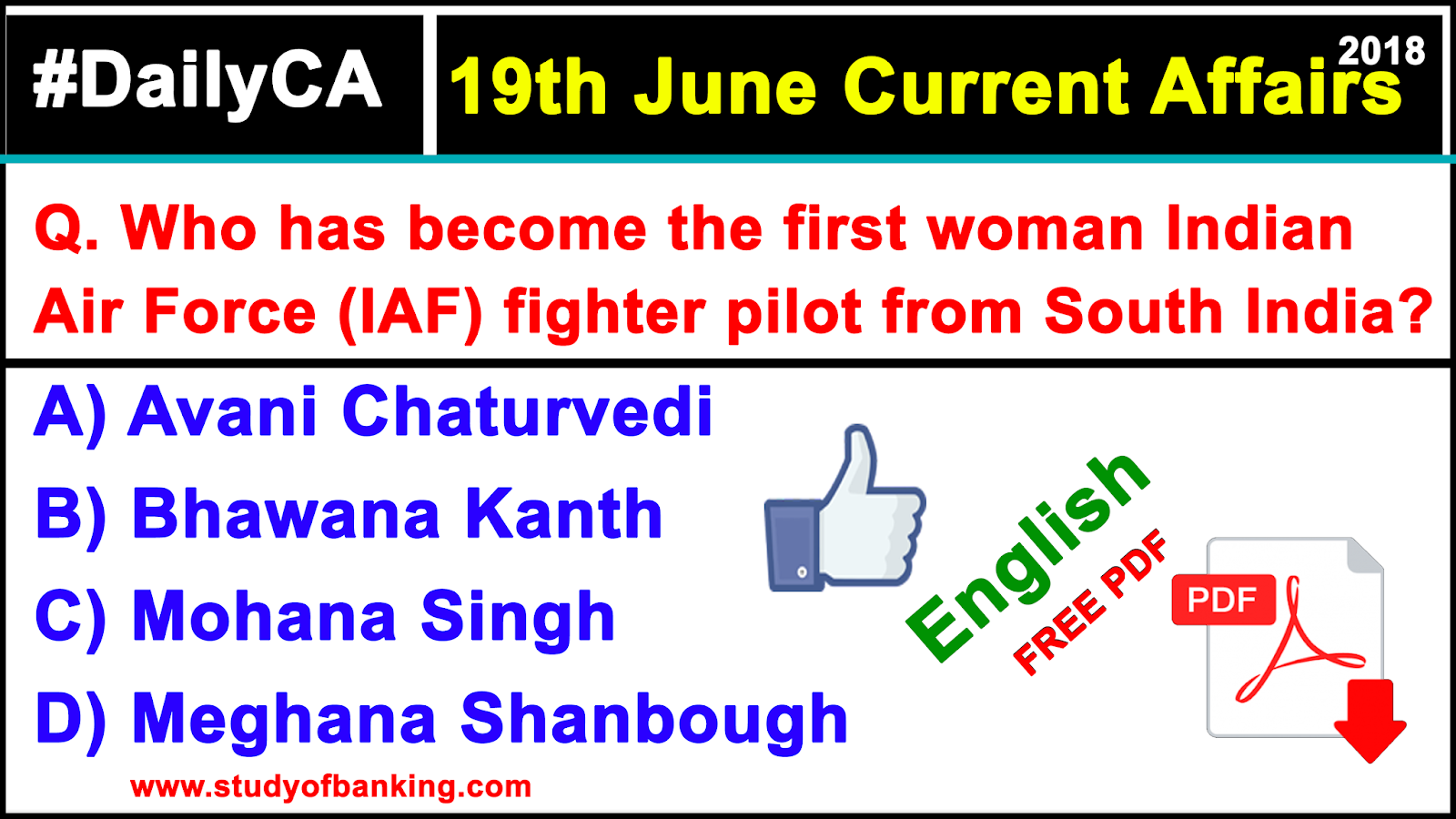 19th June 2018 | Current Affairs Quiz in English