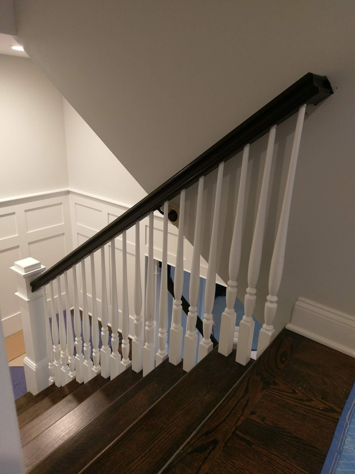 Stained Treads And Handrails
