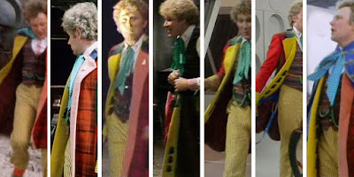 Sixth Doctor - felt cats silhouettes