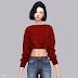 Crop Knit Sweater_크롭 니트 스웨터_여자 의상
