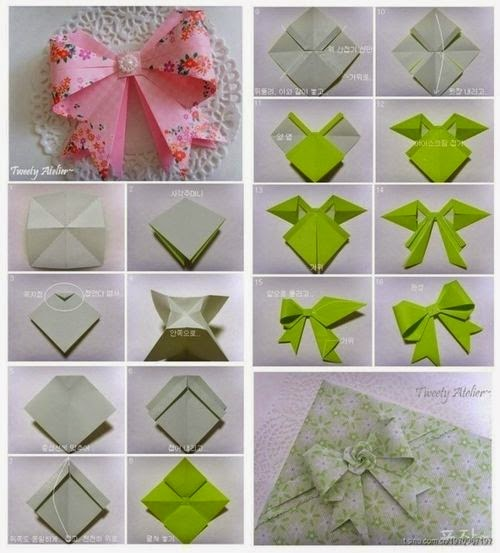 Origami Bow Tie Step By Step Art Projects Craft Ideas