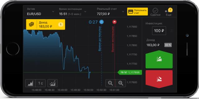 Мобильное приложение Binomo iOS / Android