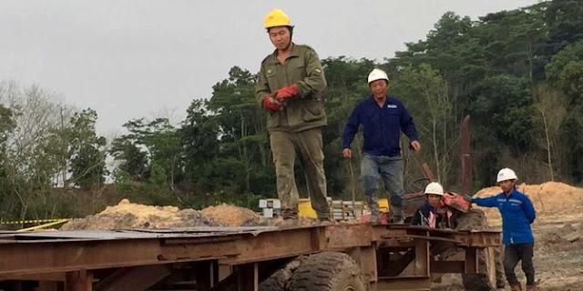 Disidak Petugas, Pekerja Ilegal China di PLTU di Kukar Berlarian Kabur Ke Hutan